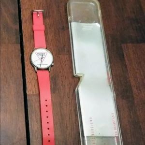 Extremely rare red Guess watch leather band